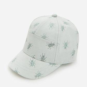 Reserved - Wzorzysta czapka z daszkiem - Zielony