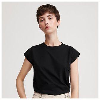 Reserved - T-shirt z lyocellu i bawełny - Czarny