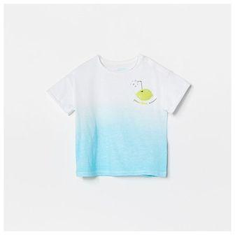 Reserved - Bawełniany t-shirt z aplikacją - Biały