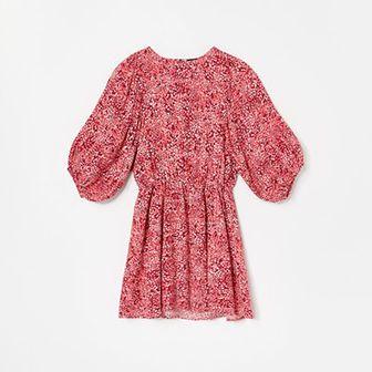 Reserved - Wzorzysta sukienka z wiskozy - Czerwony