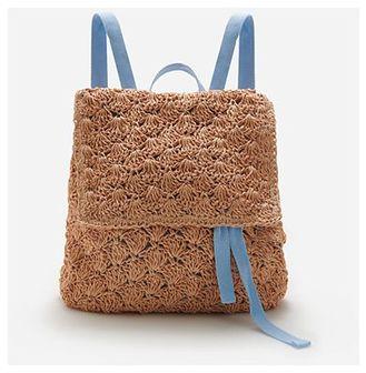 Reserved - Pleciony plecak - Beżowy