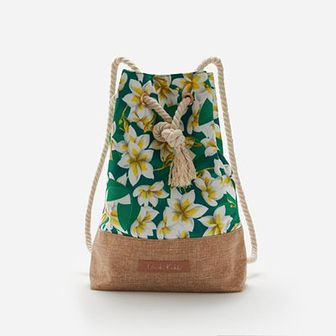 Reserved - Plecak worek Frida Kahlo - Zielony