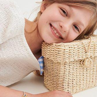 Reserved - Pleciona torebka kuferek - Beżowy