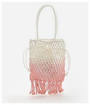 Reserved - Pleciona torebka z frędzlami - Pomarańczowy