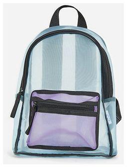 Reserved - Plecak z przezroczystej tkaniny - Niebieski