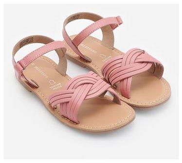Reserved - Skórzane sandały - Różowy