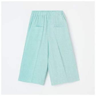 Reserved - Spodnie kuloty z lnem - Zielony