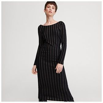Reserved - Sukienka z dekoltem na plecach - Czarny