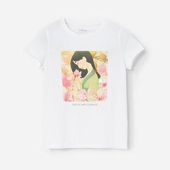 Reserved - Bawełniany t-shirt z aplikacją Mulan -