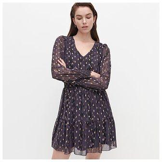 Reserved - Wzorzysta sukienka - Fioletowy