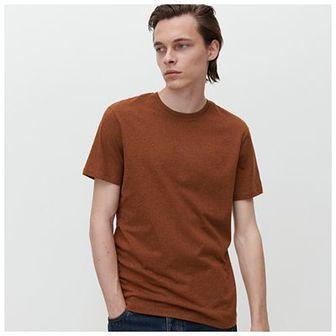 Reserved - T-shirt basic - Bordowy