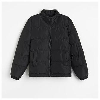Reserved - Pikowana kurtka z recyklingowanym ociepleniem - Czarny