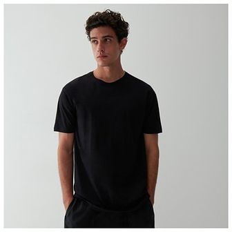 Reserved - T-shirt bawełniany - Czarny