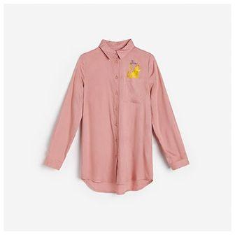 Reserved - Koszula z kieszonką - Różowy