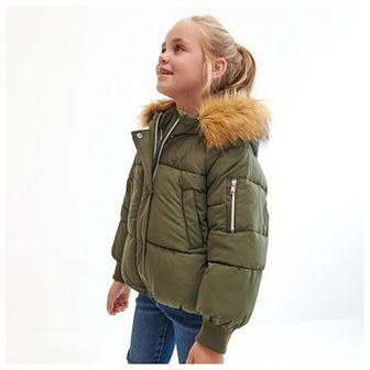 Reserved - Pikowana kurtka z kapturem - Zielony