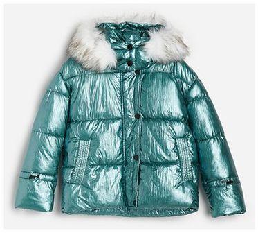 Reserved - Pikowana kurtka z kapturem - Wielobarwny