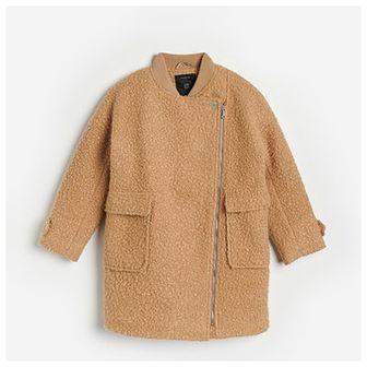 Reserved - Płaszcz z tkaniny boucle - Beżowy