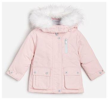 Reserved - Pikowana kurtka z kapturem - Różowy