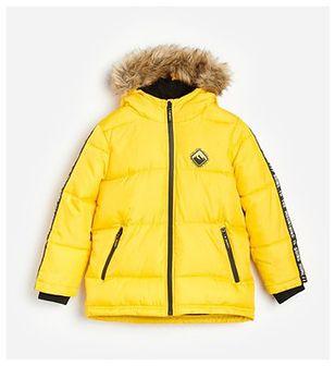 Reserved - Pikowana kurtka z kapturem - Żółty
