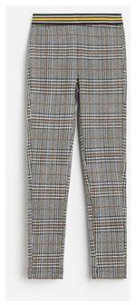 Reserved - Miękkie legginsy w kratkę - Żółty