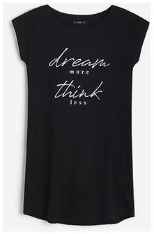 Reserved - Bawełniana koszula nocna - Czarny