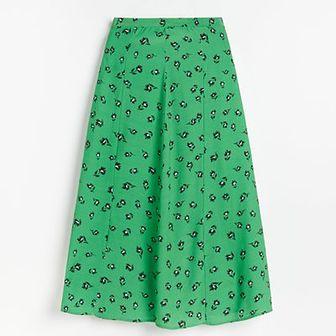 Reserved - Spódnica w kwiaty - Zielony