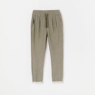 Reserved - Spodnie w jodełkę - Zielony