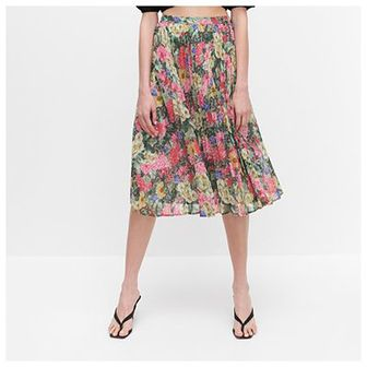 Reserved - Plisowana spódnica w kwiaty -