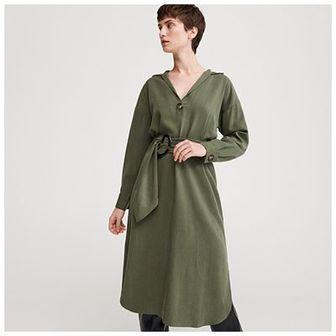 Reserved - Sukienka z Tencelu™ z paskiem - Khaki