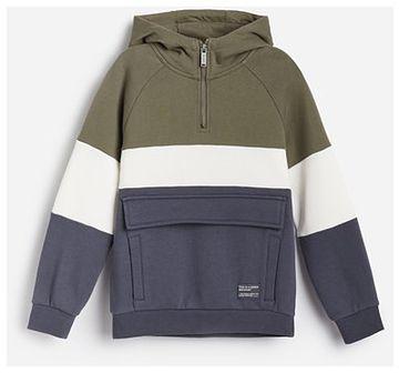 Reserved - Bawełniana bluza z kapturem - Zielony