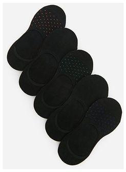 Reserved - Skarpety stopki z bawełną organiczną 5 pack - Czarny