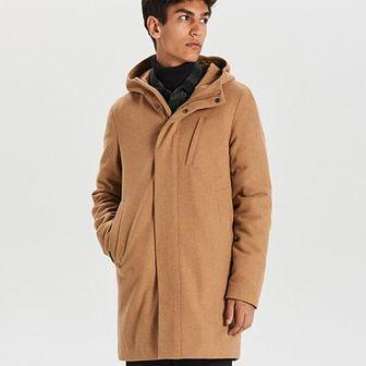 Ciepły płaszcz z wełną