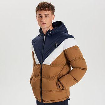 Zimowa kurtka z kontrastowymi panelami
