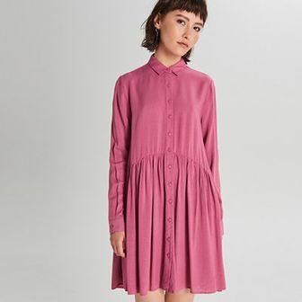 Koszulowa sukienka oversize