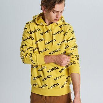 Bluza z napisami all over