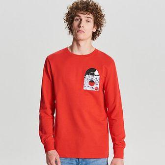 Bluza z nadrukiem na kieszonce