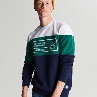 Trójkolorowa bluza z nadrukiem