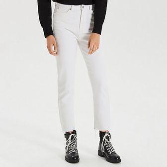 Białe jeansy straight