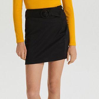 Spódnica mini z paskiem