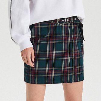 Mini spódnica w kratę