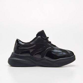 Sneakersy z holograficznymi wstawkami