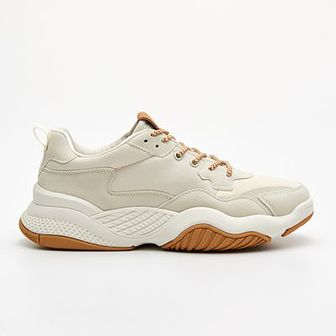 Sneakersy ze sztucznej skóry