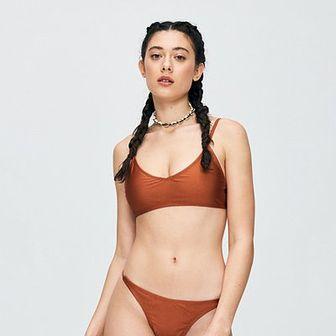 Gładki kostium kąpielowy
