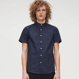 Bawełniana koszula ze stójką