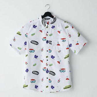 Koszula z nadrukiem Laboratorium Dextera