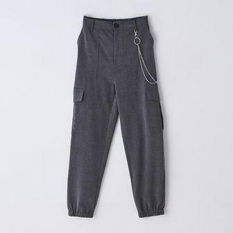 Spodnie jogger cargo z wysokim stanem
