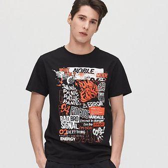 Koszulka z kontrastowym nadrukiem