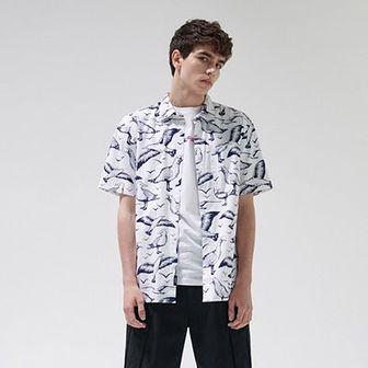 Koszula z nadrukiem w mewy