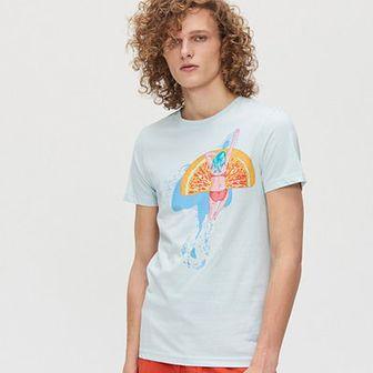 Koszulka z kolorowym nadrukiem