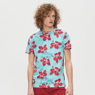 Koszulka w hibiskusy